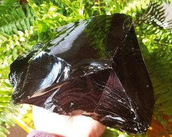 Raw Black Obsidian - Obsidian Crystal