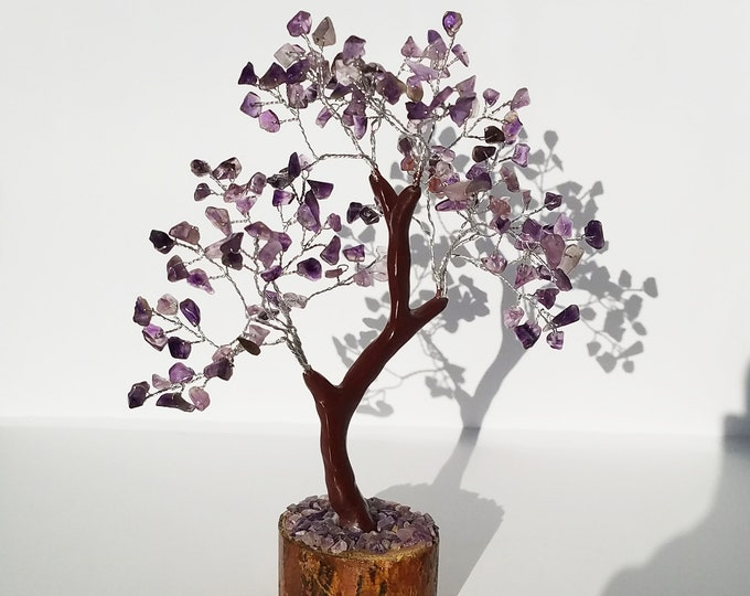 Amethyst Gemstone Tree - Tree of Life - tree of life wire wrapped