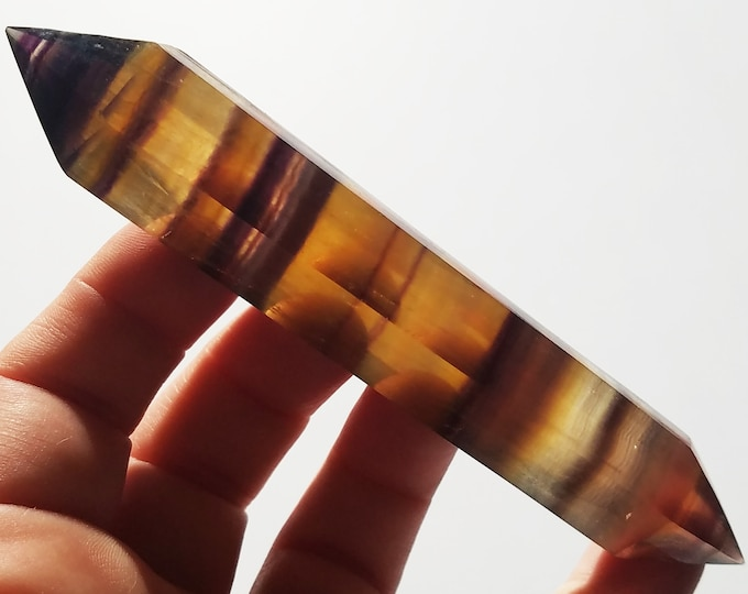 Yellow Fluorite Point double terminated