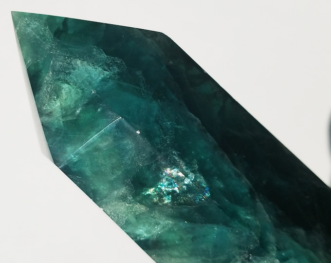 Fluorite Crystal Point - Fluorite Tower - Fluorite Crystal-Green Fluorite - Fluorite Obelisk