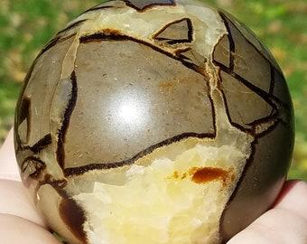Septarian Sphere,  Septarian Stone, Septarian Dragon Stone