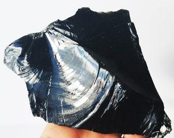 Raw Black Obsidian, Black Obsidian, Obsidian Crystal