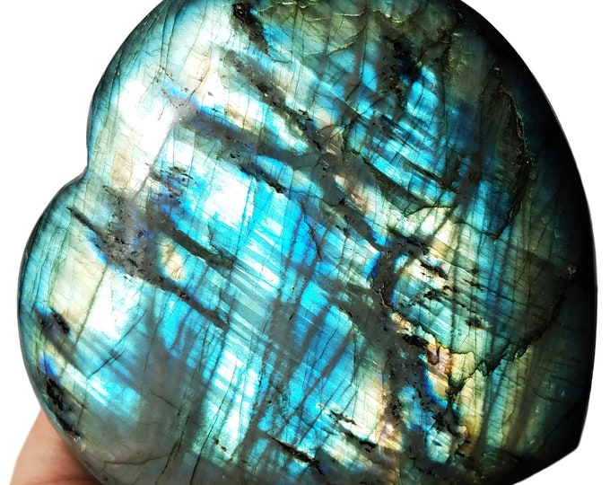 Large Labradorite Heart, Labradorite Stone, Labradorite Crystal