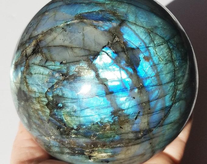 "4"" Labradorite Sphere, Labradorite Stone, Labradorite Crystal"