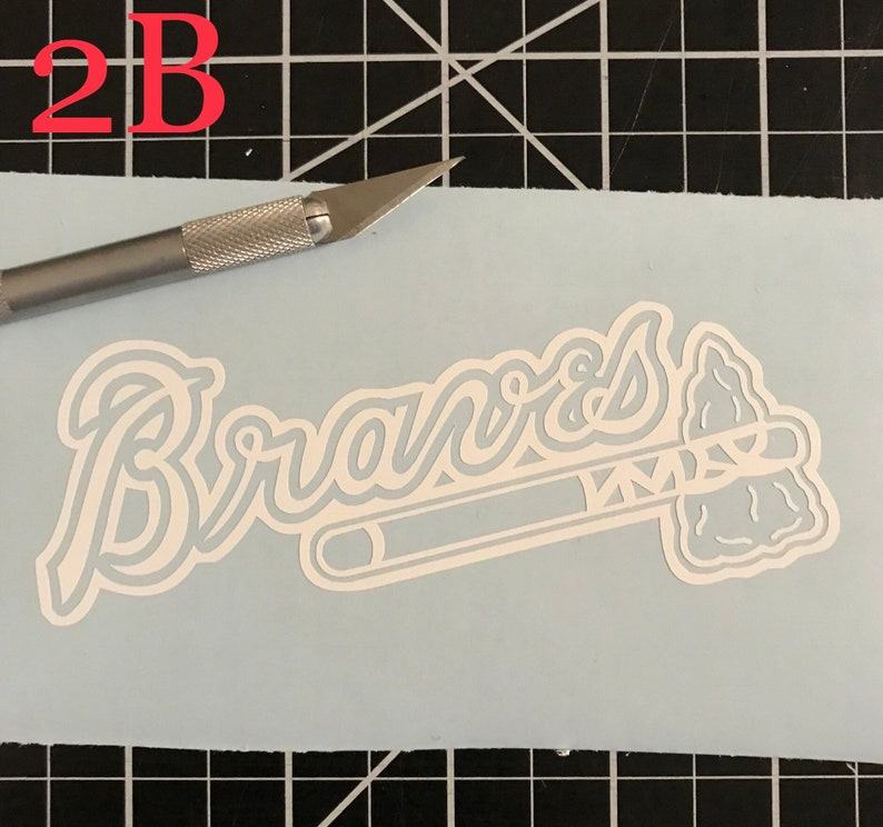 Atlanta Braves vinyl sticker