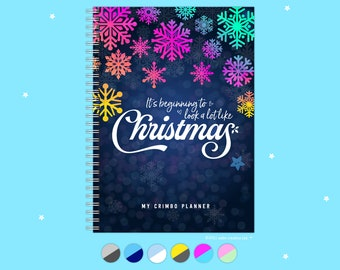 My Crimbo Planner, Handmade Christmas Organiser, Colourful, A5, Checklists, Budget, Cooking, Gifts, Book