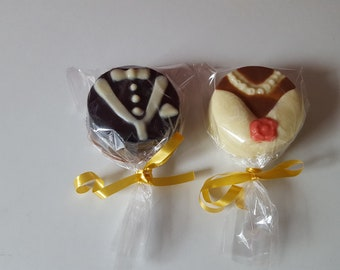12 Chocolate Covered Oreo,Cookie, Favors, Bride & Groom, Belgian Chocolate, Covered Oreo,Wedding Favours