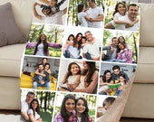 Customizable Photo Blanket, Photo Collage Gifts for him or her, Family Friends Custom Gifts, Special Memory Keepsake