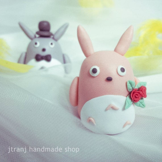 Totoro Couple - Wedding cake topper