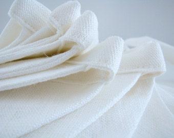 Fabric Flag Banner / Pennant / Bunting / White / Wedding / Christening