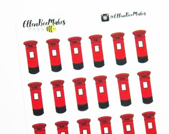 Post Box Stickers for planners, journaling, scrapbooking
