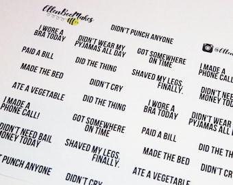Adulting Sticker Sheet