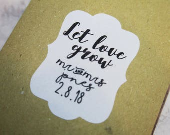 10 Custom Seed Packet Favors (Just Packets)