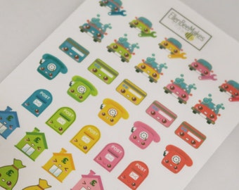 Household & Bills Functional Stickers