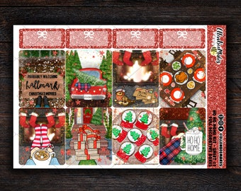 Ho Ho Home Weekly Sticker Kit Hand-drawn Exclusive to EBM for use with planners, journaling, scrapbooking Multiple Skin Tone Options