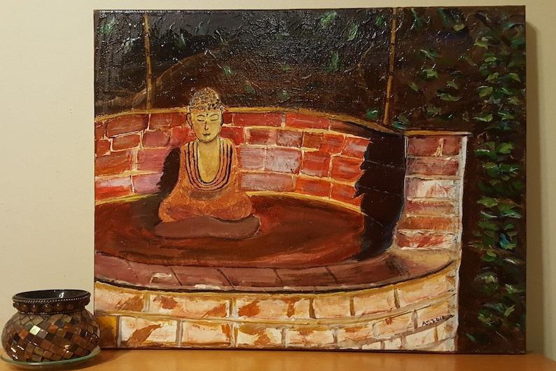 Buddha Art Buddha Painting Fine Art Painting Buddha Wall Art Namaste Meditation Art Yoga Wall Art
