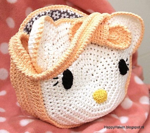 Haakpatroon Hello Kitty Tasje Voor Lieve Meisjes Etsy