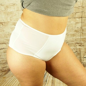 Lingerie gifts for her comfy knickers printed underwear women/'s clothing by RedWings white panties