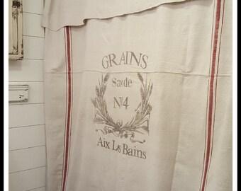 Grain Sack Window Or Shower Curtain Grains No4 Pattern
