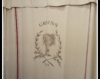 Grain Sack Window Or Shower Curtain Grains 1841 Pattern