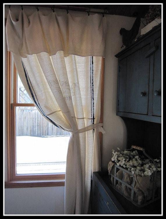 Grain Sack Curtain Or Shower Fresh Cut Sunflowers Etsy