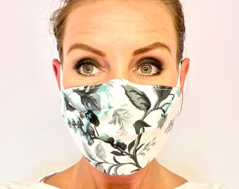 Face Masks With The Filter Pocket Made In Uk Three Layers Etsy
