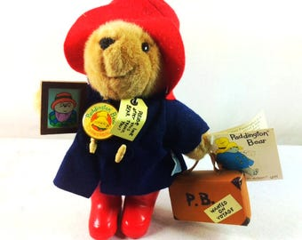 Vintage Paddington Bear Stuffed Bear - Rubber Booted Paddington - Paddington Collectible - Paddington Bear 32940