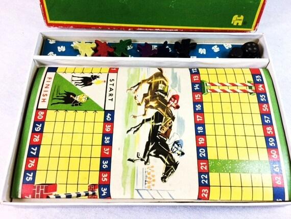Horse Racing Board Game Vintage Horse Racing Game Jockey Etsy