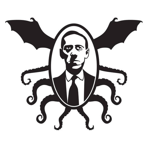 Winged Cthulu Vinyl Decal Cthulu Decal Lovecraft Decals Ancient One Decal Hello Cthulu Sticker