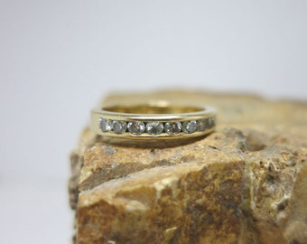diamond aniversary band 14k myellow gold