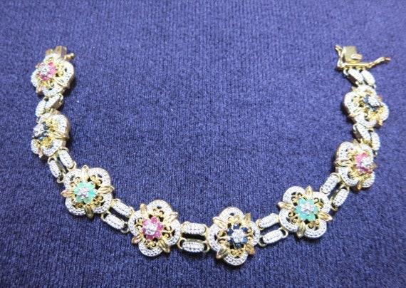 multi gem vermeil sterling bracelet | designer ver