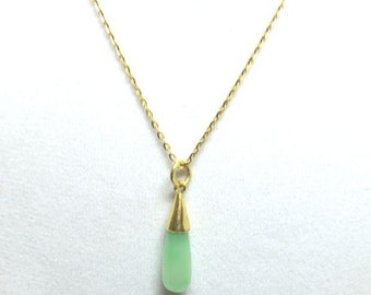 jade gold 24k pendant with chain | 24k jade pendant w/24k chain