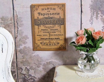 30% OFF Sale 1:12 Dollhouse Art Miniature Tapisserie PARIS Antique Wall  Decor Victorian