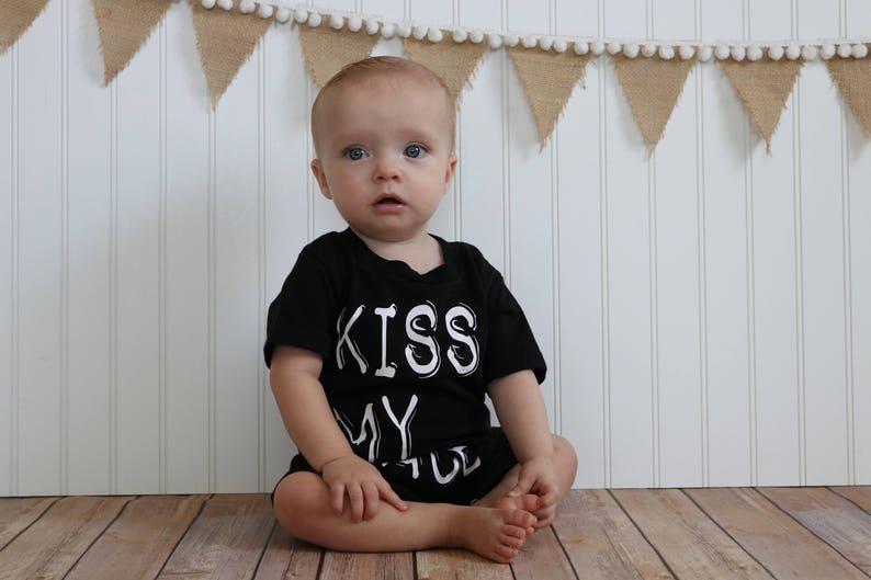 Trendy clothing Trendy romper rompers shirts Kids shirt Stylish romper Kids tshirt Kiss My Face Romper Kiss My Face tee tshirts