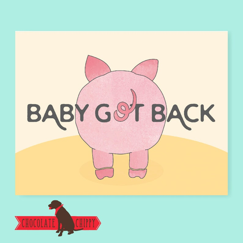 Baby Got Back Card  Greeting Card  Funny Card  Funny Cards image 0