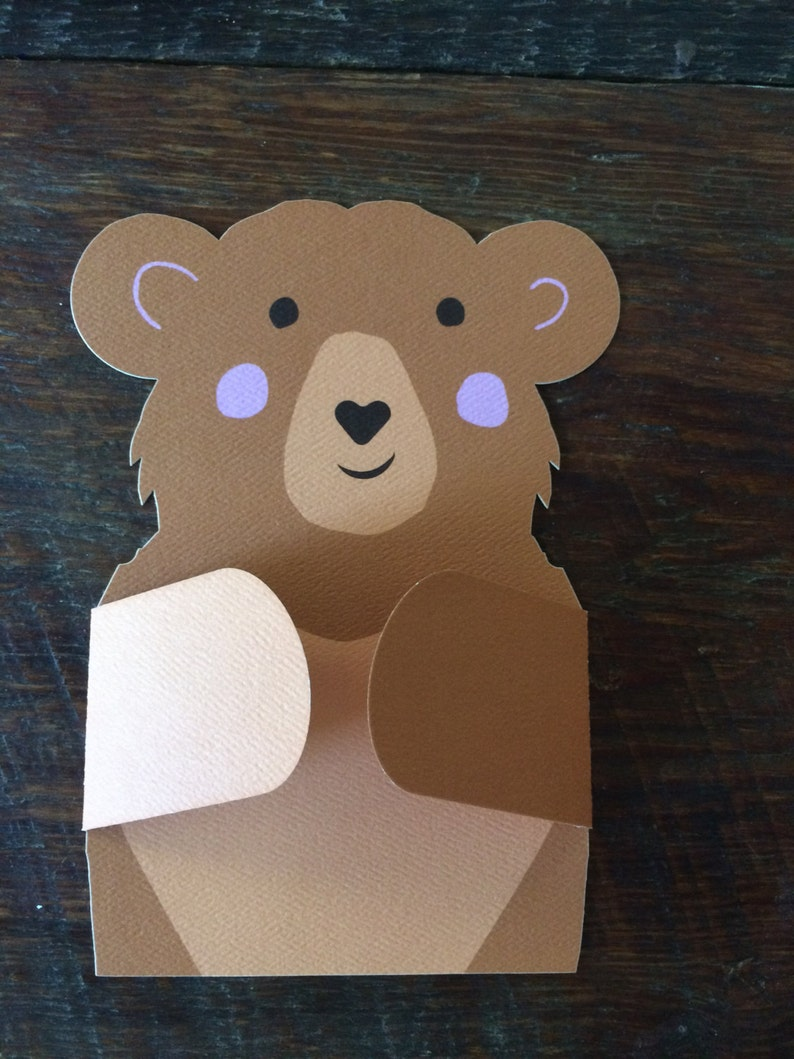 Bear Hug Card  I love you any occasion card image 0