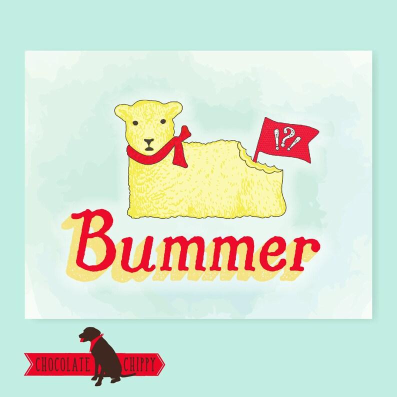 Bummer Butter Lamb Card  Easter  Butter Lamb  Buffalo  image 0