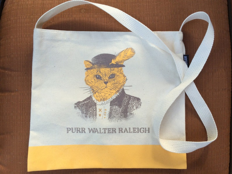 Purr Walter Raleigh Tote Bag  Raleigh NC  Tote Bag  image 0