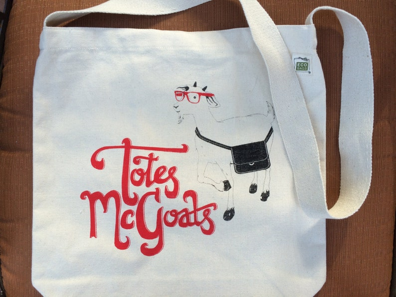 Totes McGoats Tote Bag   Goat  Goats  Tote Bag  Goat Gifts image 0