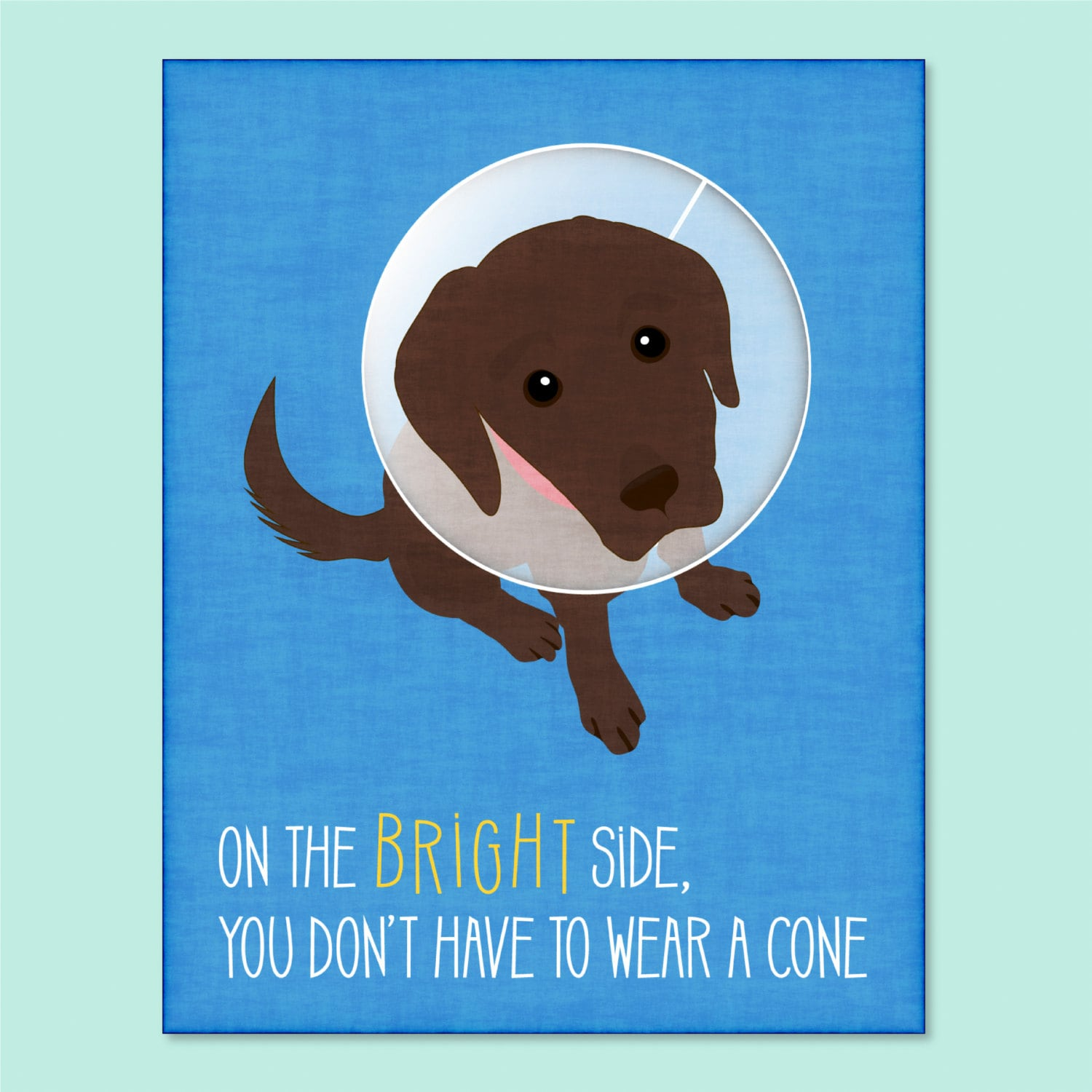 Funny Dog Greeting Card Get Well Soon Card Funny Get Well Etsy