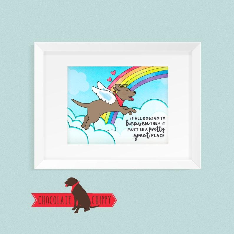 Dog Heaven Matted Print  Free Shipping  Dog Memorial  image 0