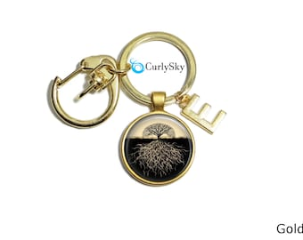 Tree Root Keychain Accessory