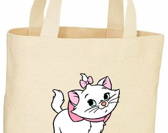 Marie cat custom tote bag