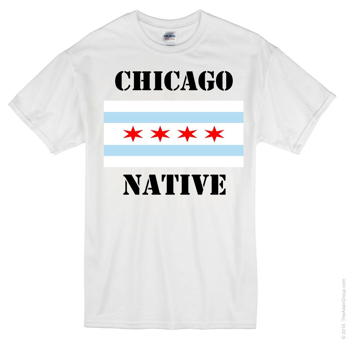 Chicago Native T Shirt Chicago Flag Etsy