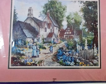 Kit-Coming Home, #51085, 14 x 11 inches, Counted Cross Stitch,Designed by Sandy Bergeron, by Canadamar Designs, Vintage