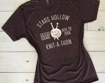 bef10008 Stars Hollow Knit-a-Thon - Gilmore Girls - Bella+Canvas T-shirt - FREE  SHIPPING