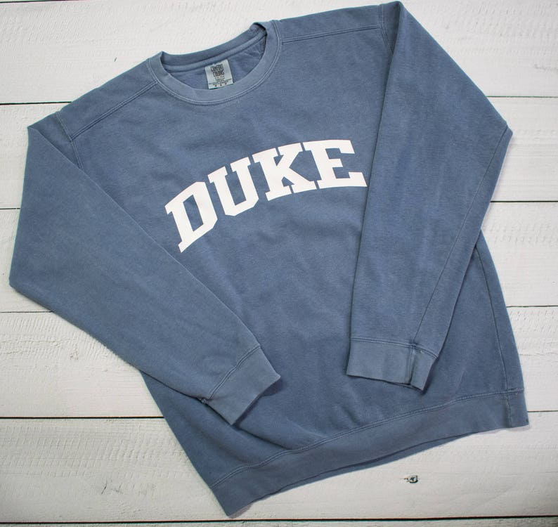 c07587928b1 Customized School Comfort Colors Sweatshirt Block Lettering