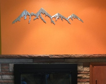 Snowy Colorado Mountains, metal wall art. Ski and Snowboard Gift idea. Skiing and Snowboarding Gifts.  Gifts for him, Gift for her
