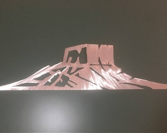 3 ft. Castle Rock Colorado metal wall art. Bear Mountain Metal Art. New home gift. City life. The great outdoors. Great graduation gift