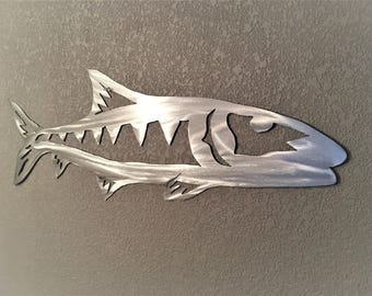 Bonefish Metal Wall Art. Backcountry fishing wall artwork. Gift for fisherman. Beach house decor. Gift for him. Saltwater Fish  Florida Keys